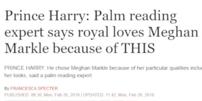 Daily Express Palm Reading Prince Harry